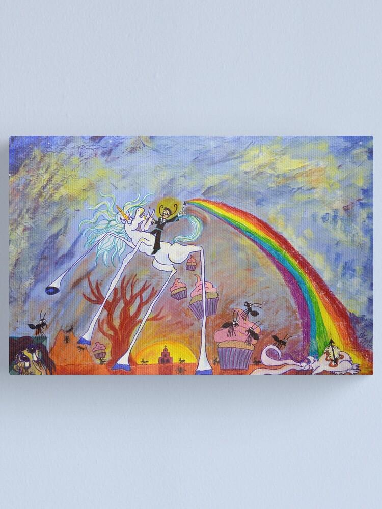 Alternate view of Surrealist Lanscape Canvas Print