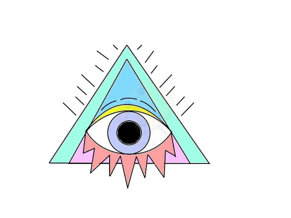 triangles with eye, pastel color by WalkOfFame