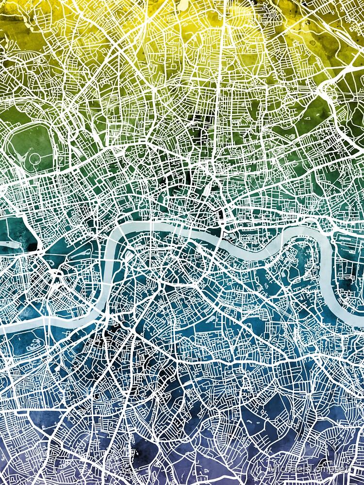 London England Street Map by ArtPrints
