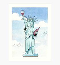 Lady Liberty Part 1 Art Print