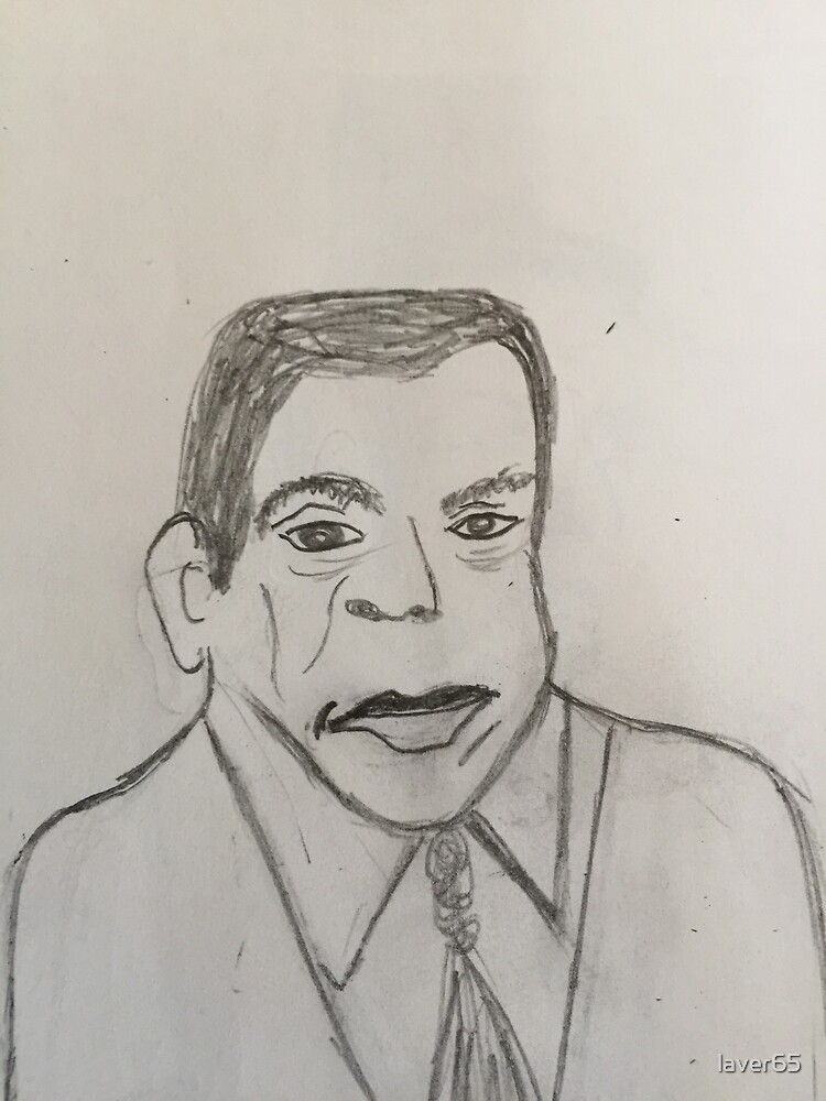 My Pencil Sketch Of Andrew Young; Pastor. Politician, 55th Mayor of Atlanta, Georgia January 4, 1982 - January 2, 1990, Civil Rights Leader, Activist by laver65
