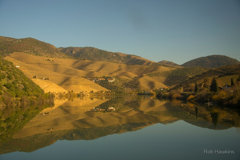 Douro valley Reflections by Rob Hawkins