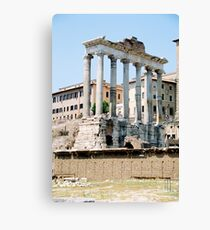 The Temple of Saturn, Rome, Italy Canvas Print