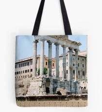 The Temple of Saturn, Rome, Italy Tote Bag