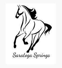 Saratoga Springs Horse Script Photographic Print
