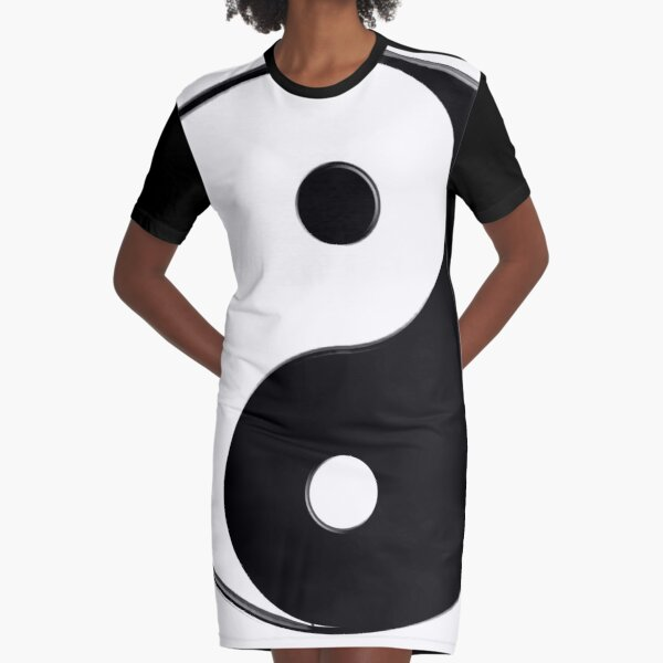 The Magical YinYang Graphic T-Shirt Dress