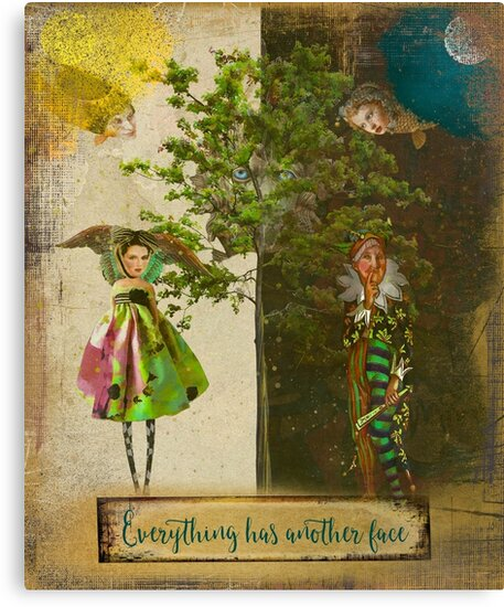 Everything has another face by Cathryn Wellner