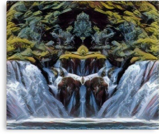 Tranquil Waterfall  by InfiniteBlue88