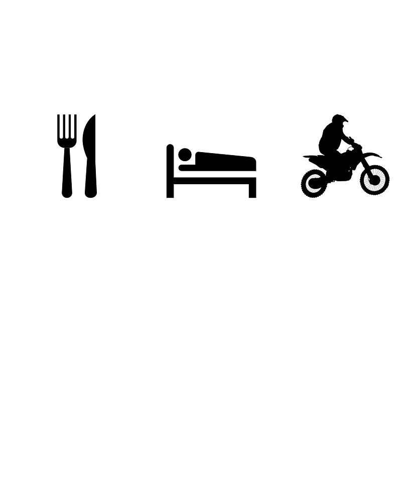 Eat Sleep Motorcycle by bonehunter86
