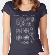 Rubik's Cube Patent: Awesome Patents Women's Fitted Scoop T-Shirt