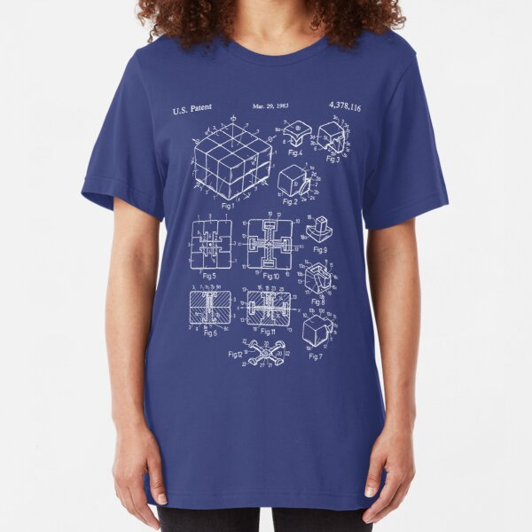 Rubik's Cube Patent: Awesome Patents Slim Fit T-Shirt