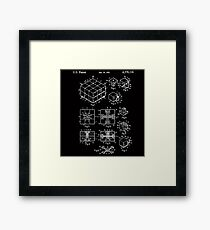 Rubik's Cube Patent: Awesome Patents Framed Print