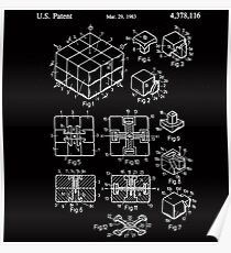 Rubik's Cube Patent: Awesome Patents Poster