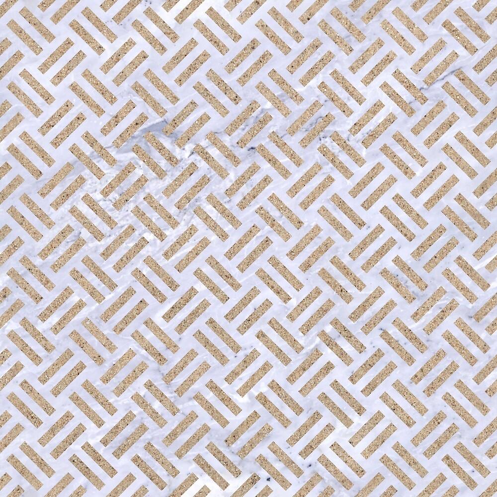 WOVEN2 WHITE MARBLE & SAND (R) by johnhunternance