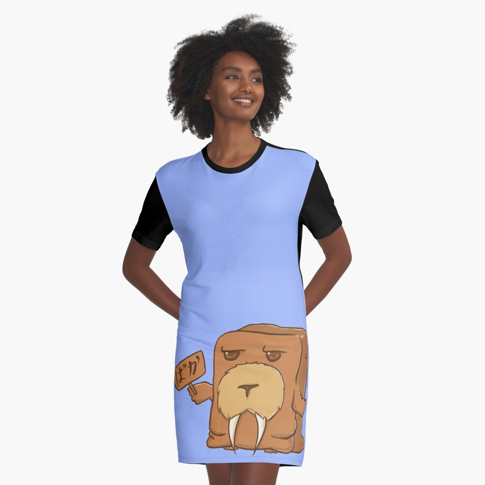 Walruskabe Graphic T-Shirt Dress Front
