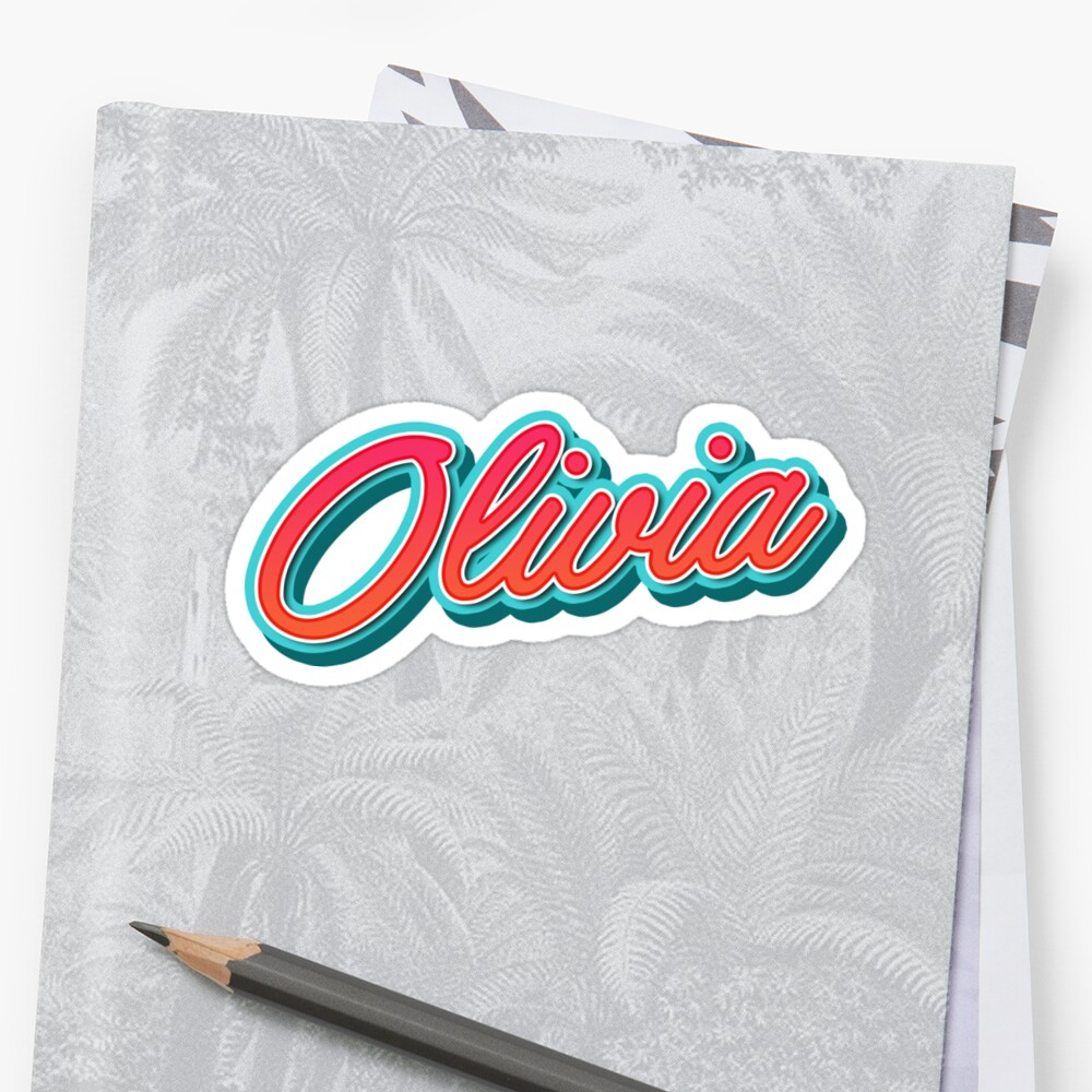 Olivia Name Typography by Georgi Zhelyazkov