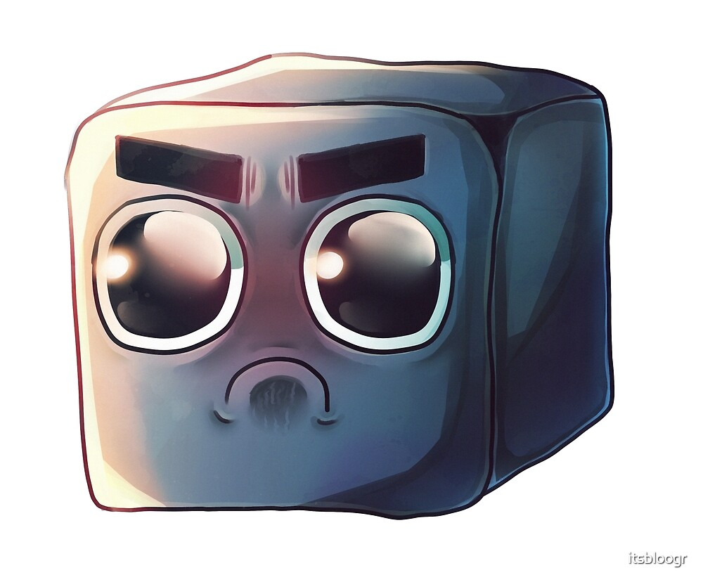 Angry Cube by itsbloogr