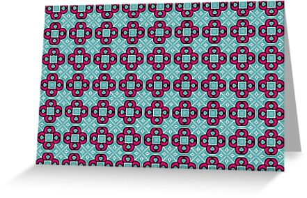 Hot Pink/Teal Pattern by Nancycurb