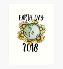 Lámina artística Día de la Tierra 2018