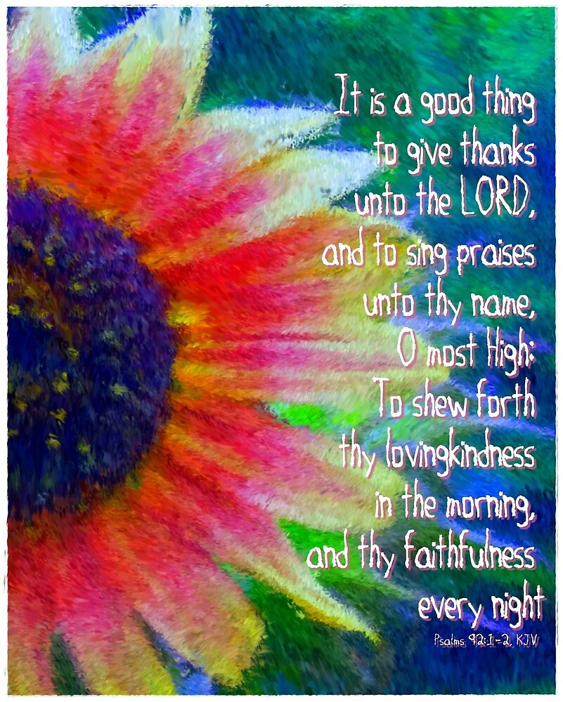 Psalms 92:1-2 by romans12designs