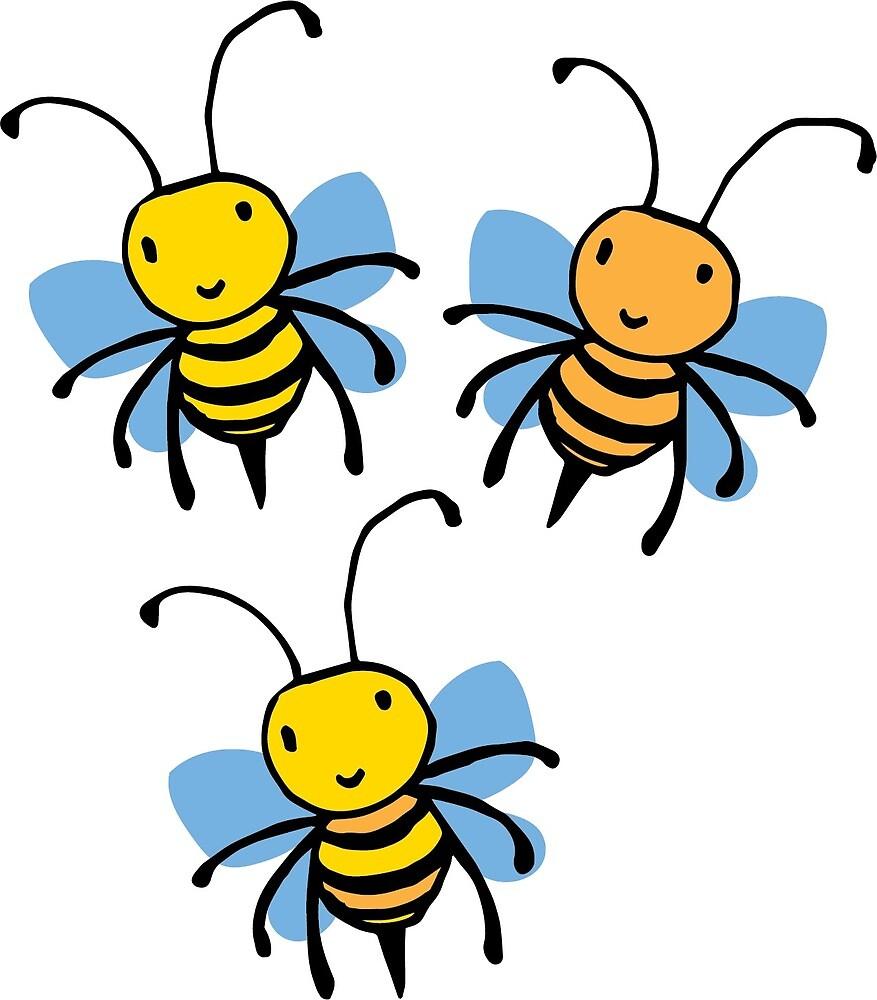 Cute Bees by GroglioArt