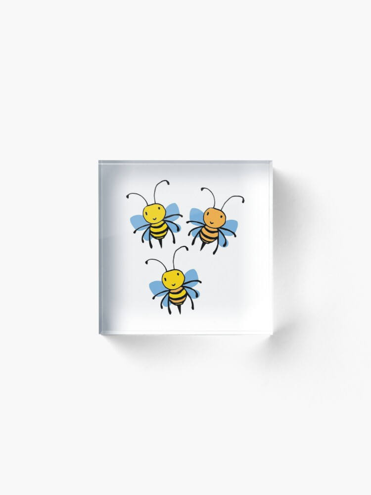 Alternate view of Cute Bees Acrylic Block