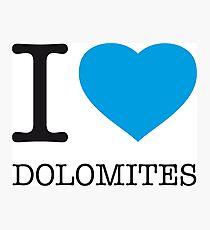 Lámina fotográfica I ♥ DOLOMITES
