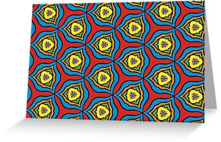 Rainbow Amoeba Pattern by Nancycurb