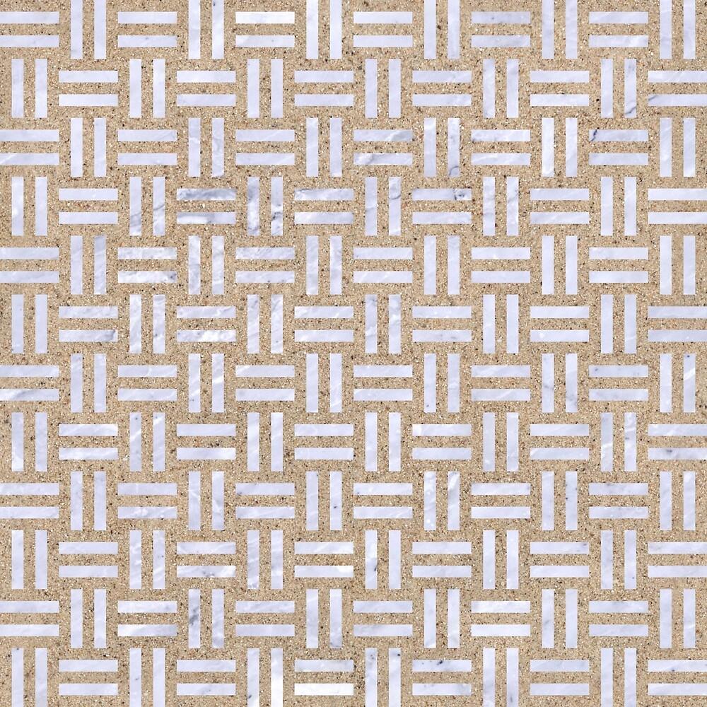 WOVEN1 WHITE MARBLE & SAND by johnhunternance