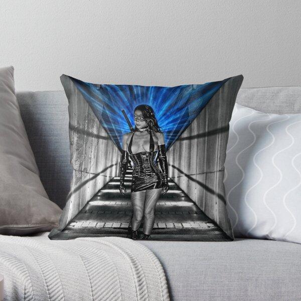 La Femme Kunoichi Throw Pillow