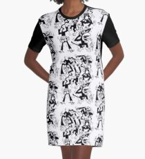 Crazy Monkeys Graphic T-Shirt Dress