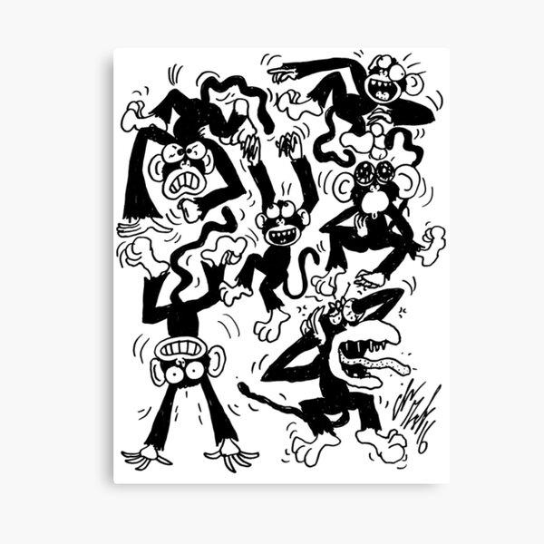 Crazy Monkeys Canvas Print