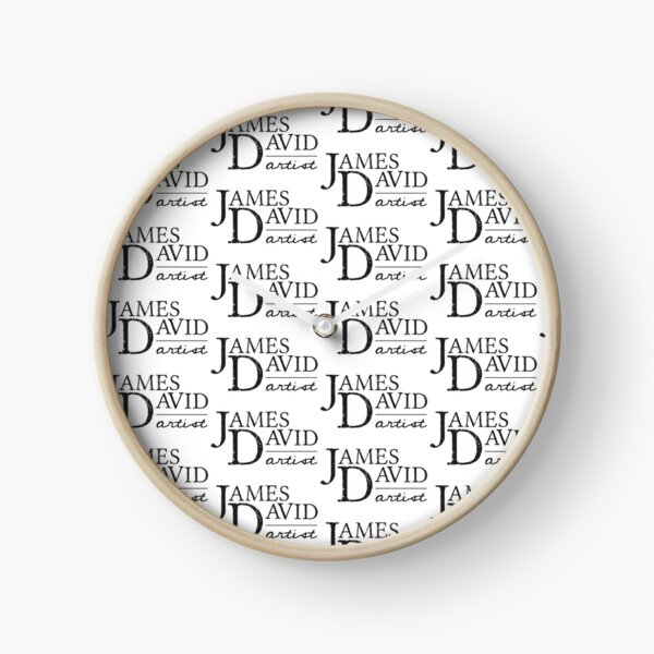 James David logo Clock