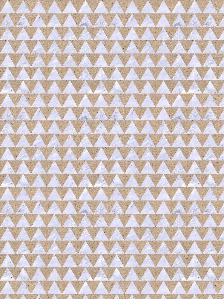 TRIANGLE2 WHITE MARBLE & SAND by johnhunternance