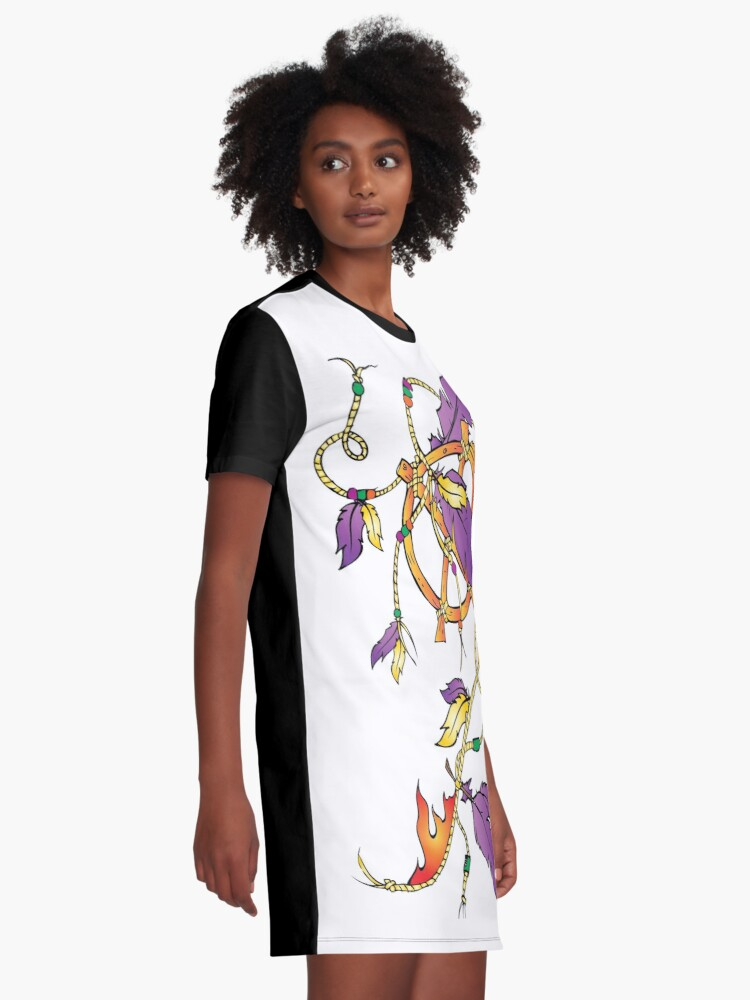 Alternate view of Feather Dream Wheel Graphic T-Shirt Dress