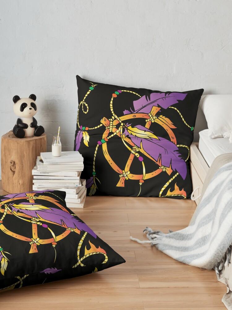 Alternate view of Feather Dream Wheel Floor Pillow