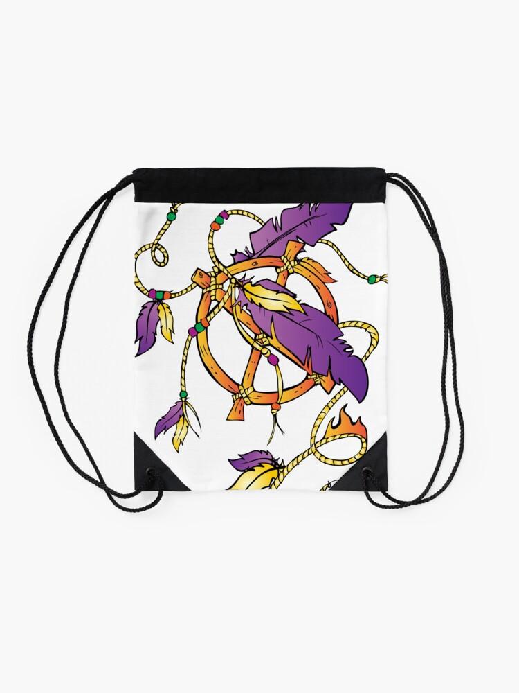 Alternate view of Feather Dream Wheel Drawstring Bag