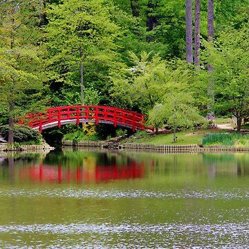 Japanese Garden Bridge  by Cynthia48