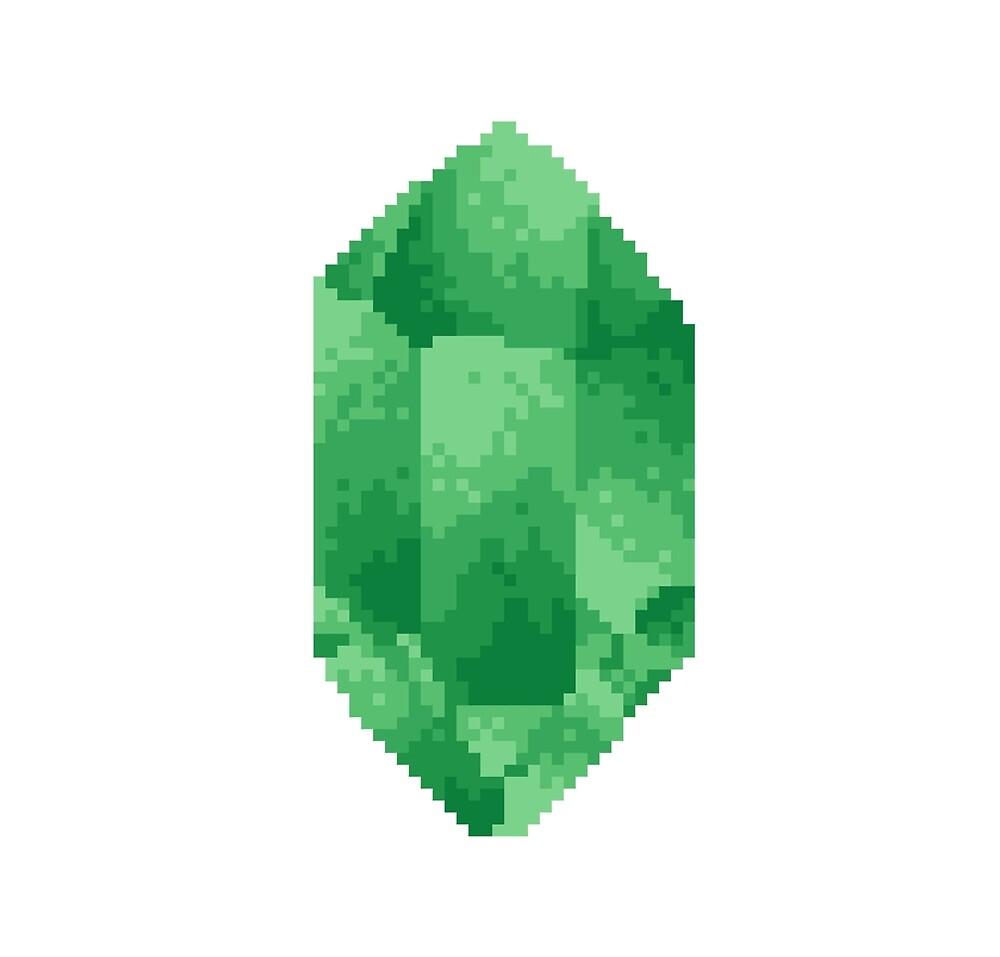 Peridot Crystal Pixel Art / August Birthstone Pixel Art by PixlPrints