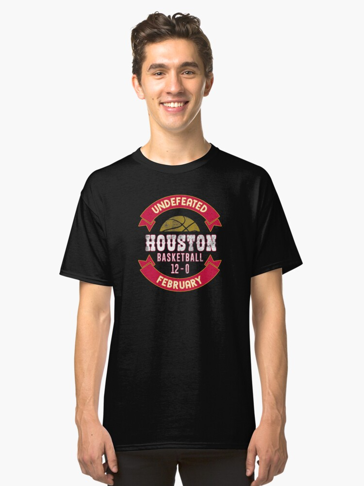 Houston Basketball Undefeated February Classic T-Shirt Front