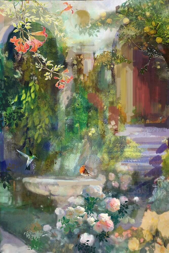 Bird Bath Fountain by aastankovic