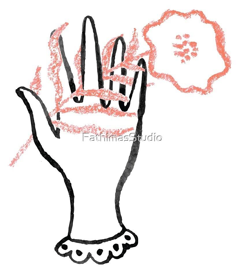 Floral Hands 002 by FathimasStudio