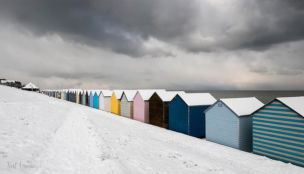 Huts in Winter - Herne Bay by NeilGUK