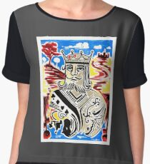 King Of Cards Chiffon Top