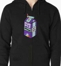 Purple drank bottle / brick Zipped Hoodie