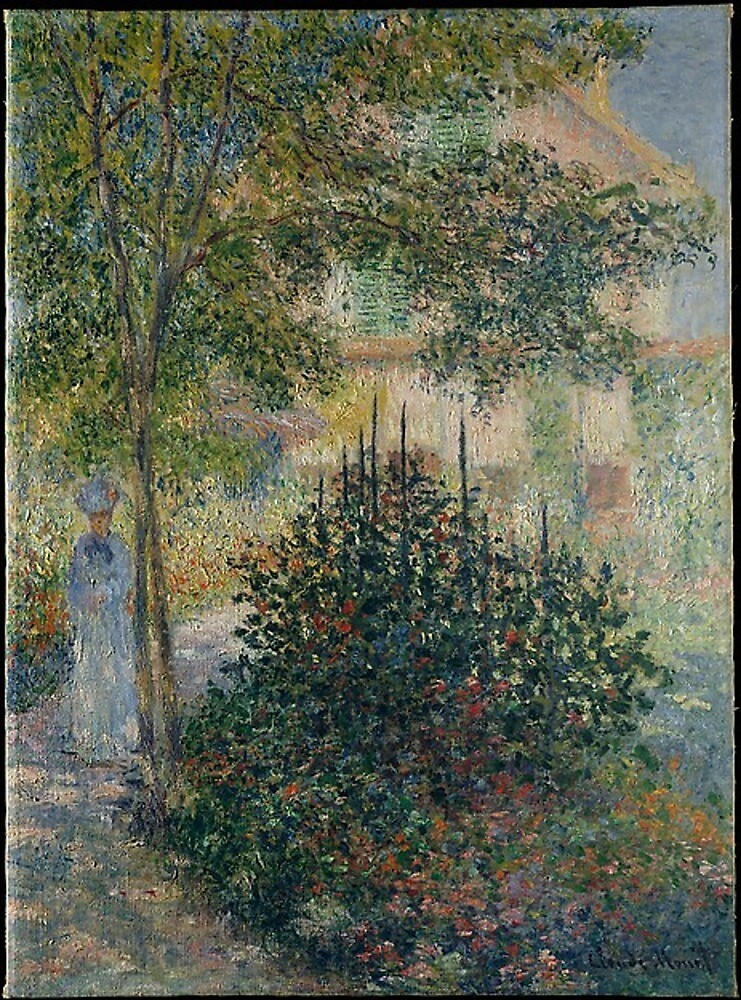 Camille Monet in the Garden  by amosmiller