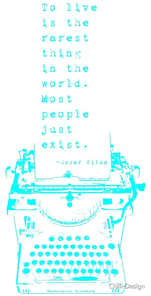 Happy Quote on Old Remington 10 Typewriter by Chilli-Design