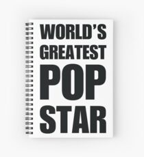 Funny World's Greatest Pop Star Gifts For Pop Stars Coffee Mugs Spiral Notebook