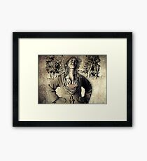 Happy girl from the past Framed Print