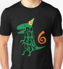 Dinosaur Birthday Boy 6 T Shirt